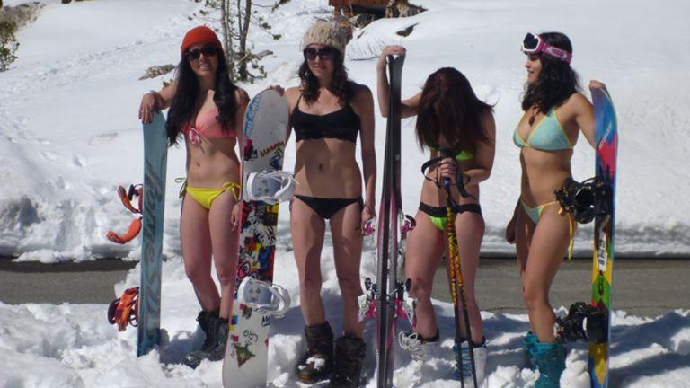 Bikinis et stations de ski