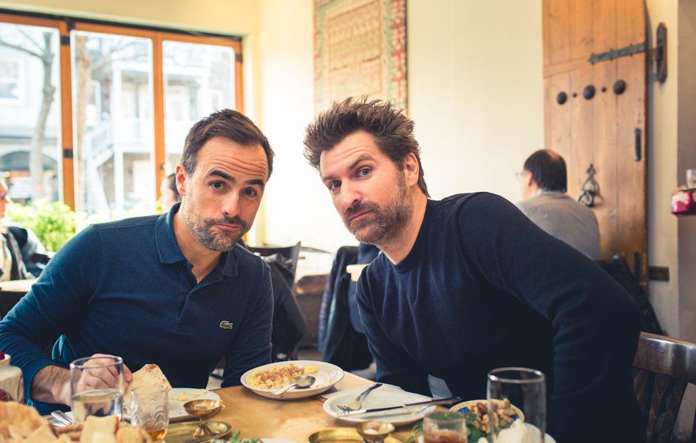 Sébastien et Jean-Thomas Jobin au Café Byblos