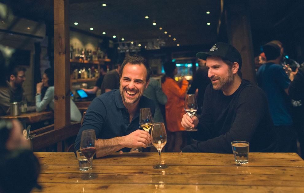 Sébastien et Jean-Thomas Jobin à la Taverne Saint-Sacrement