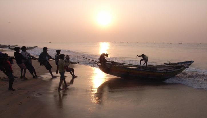 Golfe du Bengale, Inde