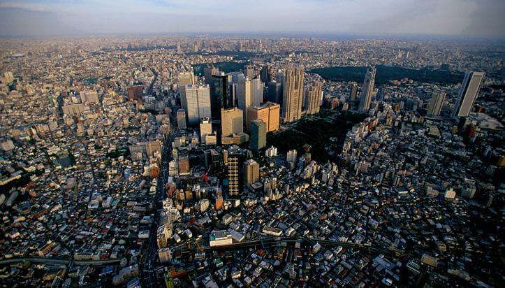 Vu du ciel au Japon