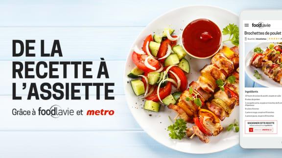 Passez de la recette à l'assiette grâce à foodlavie et Metro!