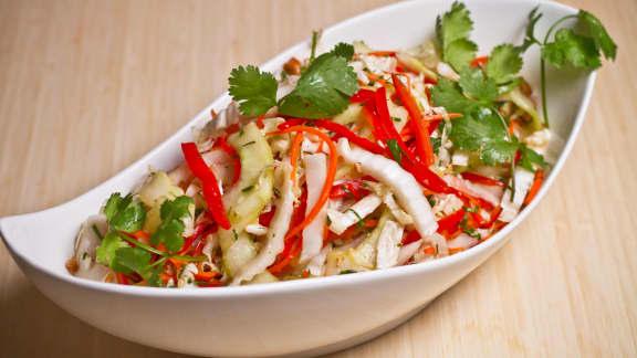 Salade de chou nappa asiatique