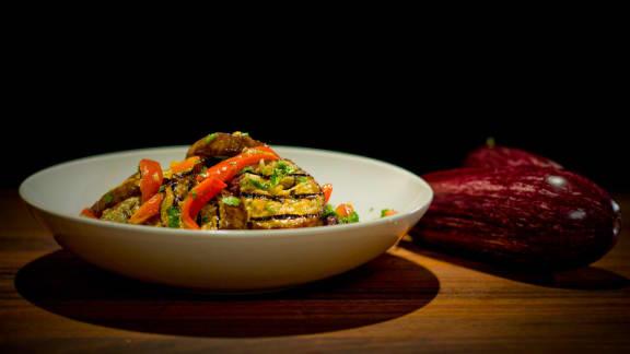 Salade d'aubergine à la marocaine