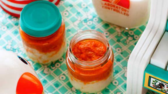 Semoule de blé et sauce tomate aux légumes invisibles