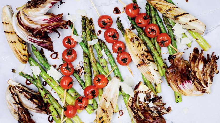 Une explosion de légumes grillés