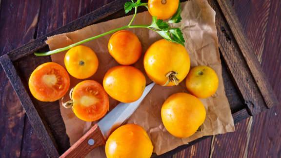 vinaigrette de tomates jaunes