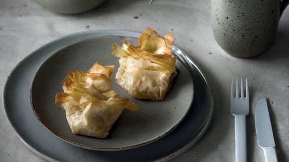 baluchons au fenouil caramélisé et au fromage