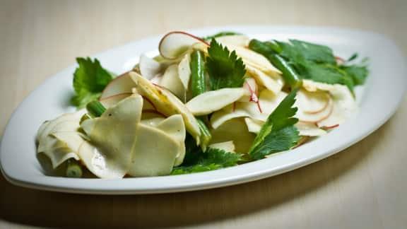 salade de panais aux haricots verts