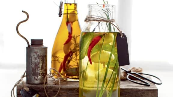 huiles parfumées aux fines herbes