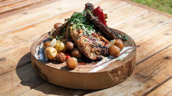 poulet en crapaudine à la portugaise