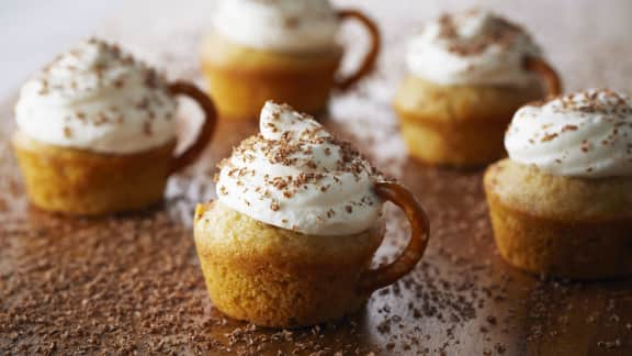 gâteaux individuels au cappuccino