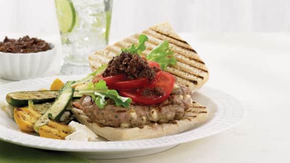 savoureux burger d'agneau