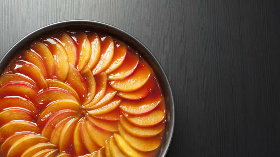 tarte aux nectarines, au rhum et à la vanille