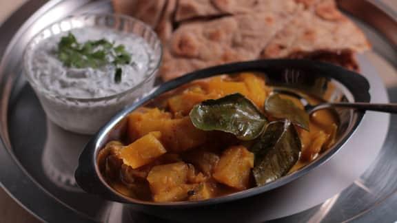 curry d'ananas aux piments verts