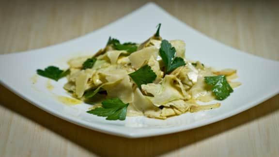 salade d'artichauts au citron et au fromage Blackburn