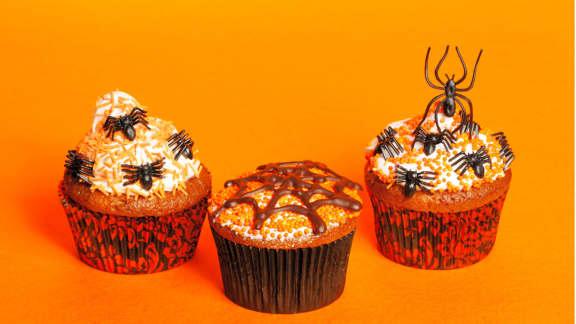 cupcakes effrayants à la citrouille