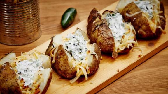 patates gouda fumé et jalapeños