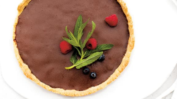 tarte au chocolat et poivre des dunes