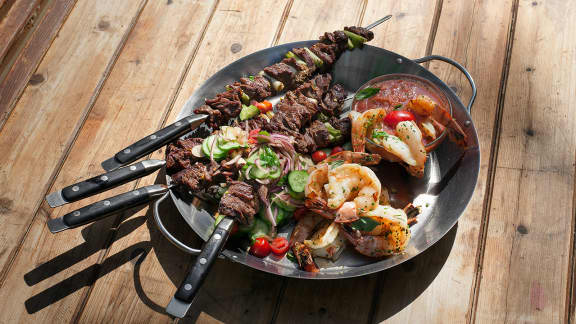 brochettes de bœuf mariné style satay