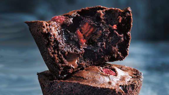 Fondants chocolat aux framboises