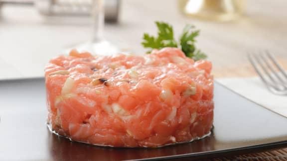 Tartare de saumon croquant