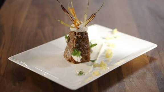 Gâteau aux carottes et aux noix, version pyramide