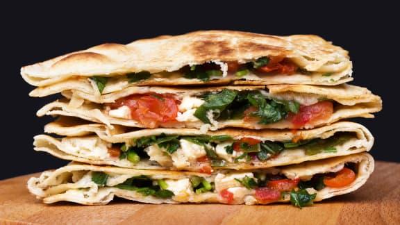 Mercredi : Quesadillas aux épinards et feta