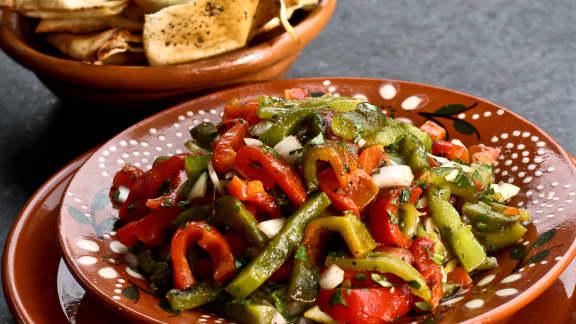 Salade marocaine de poivrons grillés