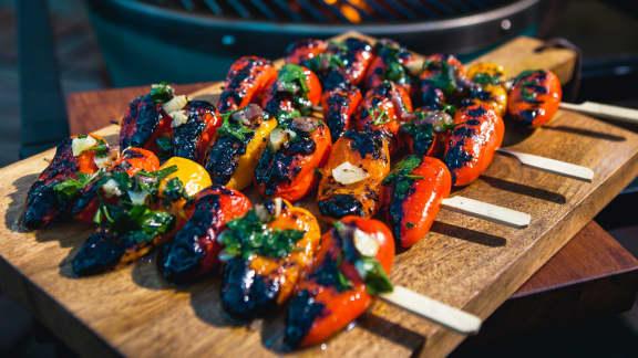 Mini-poivrons grillés aux anchois