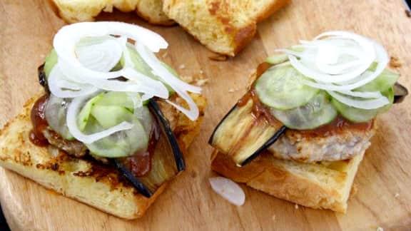 recette de hamburgers de lapin et sauce miso