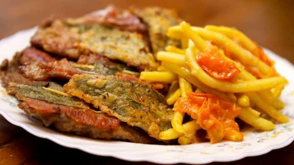 escalopes de veau à la sauge et au prosciutto (saltimbocca alla romana)