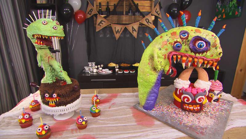 Gâteau triple monstre