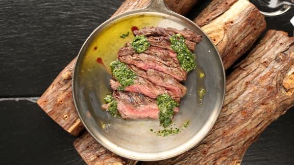 Bavette de bœuf et Chimichurri