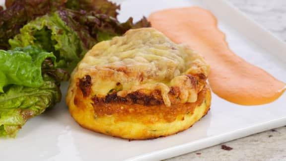 Soufflés au fromage, cuits deux fois