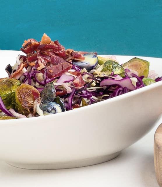 salade de chou au bacon et vinaigrette à l'érable