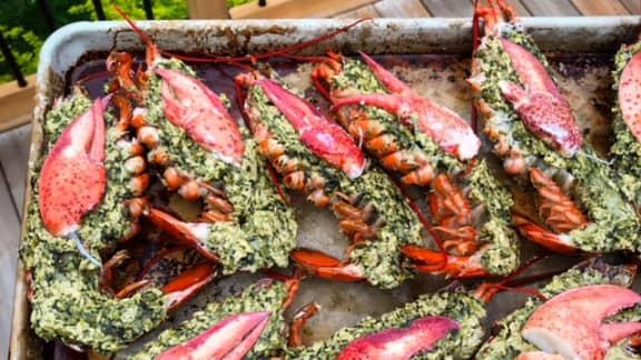 Homard farci au beurre de homard