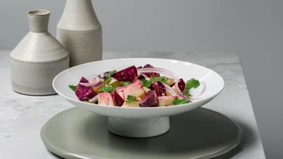 Salade de pommes de terre et betteraves