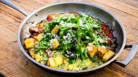 Recette de frittata avec légumes grillés et comté