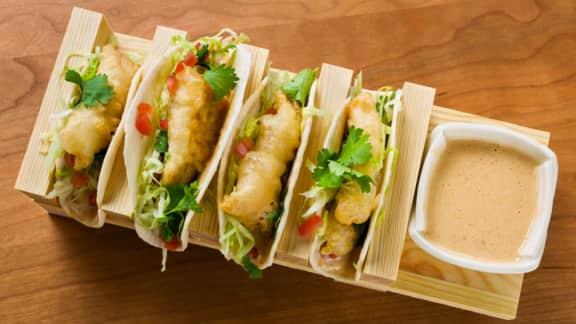 Tacos de doré à la tempura