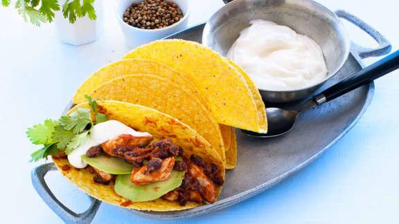 Tacos au poulet et chili