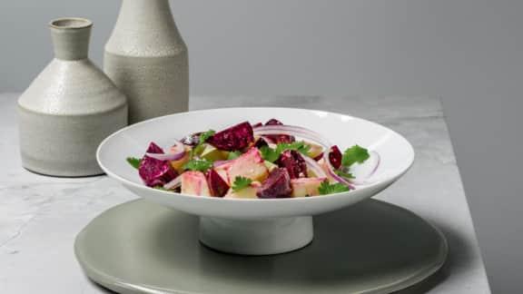 Salade de pommes de terre et de betteraves