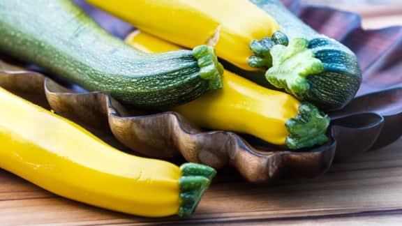Casserole de courgettes vertes et jaunes