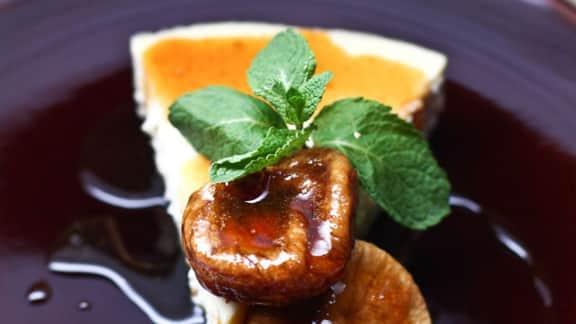 Gâteau au fromage au fromage de chèvre et aux figues