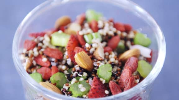 Mardi : Salade de quinoa aux fraises