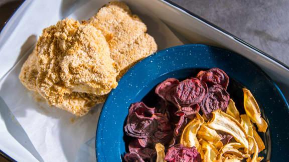 Fish and chips de légumes