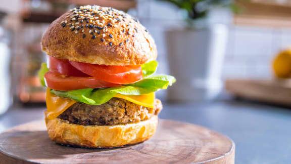 Cheeseburger aux lentilles