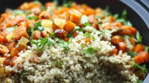 Couscous de quinoa aux légumes racines