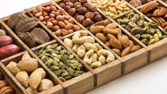 Les graines et les noix