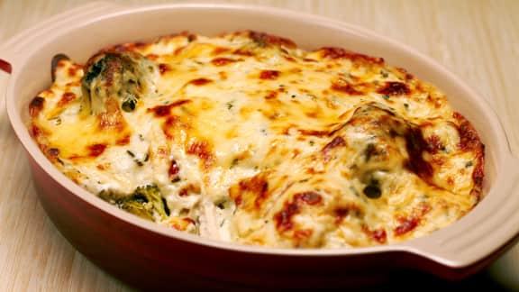 Gratin de brocoli au fromage de chèvre